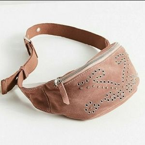 Urban Outfitters Suede Studded Belt Bag